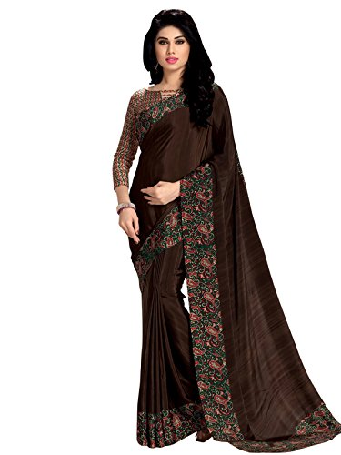 Varayu Crepe Saree (182Sj181_Brown)