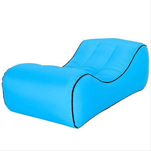 RTGFS Schlafsack Air Sofa Outdoor Tragbare Einzelne Aufblasbare Bett Feuchtigkeitsfeste Bodenmatte Wasser Aufblasbare Faul Schlafsofa Große 1830-Sky Blue - Coleman Damen Schlafsack