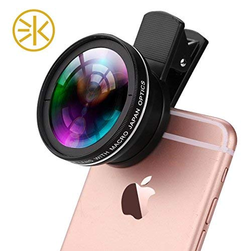 3Keys Universal Professional HD Camera Lens Kit (0.45x Super Wide Angle Lens+12.5x Super Macro Lens+37mm Thread Clip Holder)