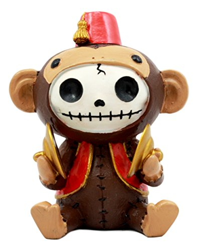 Kostüm Figur Sonic - Ebros größere Furry Bones Circus Fez Affe Skelett Monster Sit up Collectible Figur 10,2cm Hoch