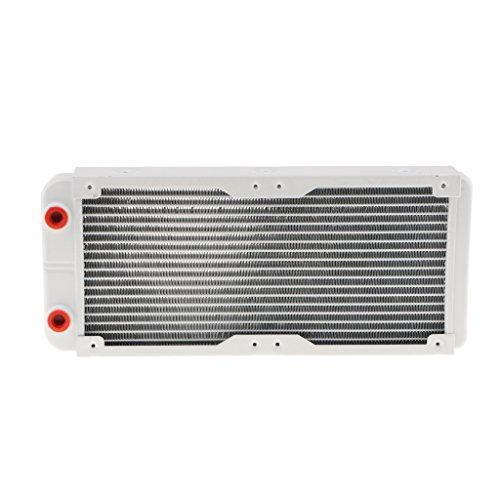 F Fityle G1 / 4 Wasserkühlung Heizkörper Aluminium Computer CPU Kühlung Radiator 18 Aluminium Rohre Wärmeaustauscher - Silber - 240mm