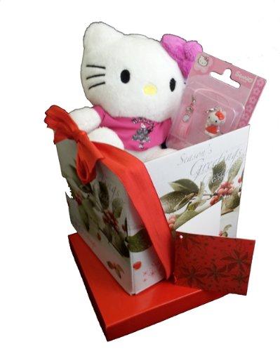 Sanrio Hello Kitty Weihnachten Geschenk-Set Plüsch & Telefon Charme