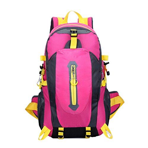Wasserdicht Wandern Reisen Sporttasche Reisen Outdoor Freizeit Bergsteigen Taschen,Black RoseRed