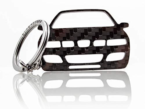 BlackStuff Carbon Karbonfaser Schlüsselanhänger Kompatibel mit Leon MK1 1M Cupra 1998-2005 BS-672