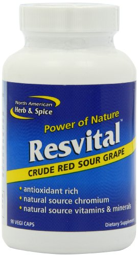 North American Herb and Spice, Resvital Capsules, 90-Count