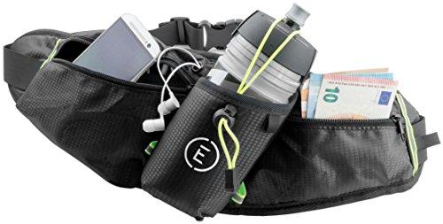 Echelon Line Running BagEchelon Line Laufgürtel, Flaschengürtel, Gürteltasche, Bauchtasche, Lauftasche, Trinkgürtel, Sport tasche, Hüfttasche mit Flaschenhalter - Klein, Wasserdicht, Elastich - Laufen