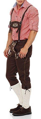 Gennadi Hoppe Herren Trachten Jeans Lederhosen Stil (58, braun)