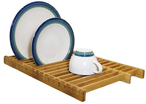 kitchenedge sobre el escurreplatos fregadero bambú rack