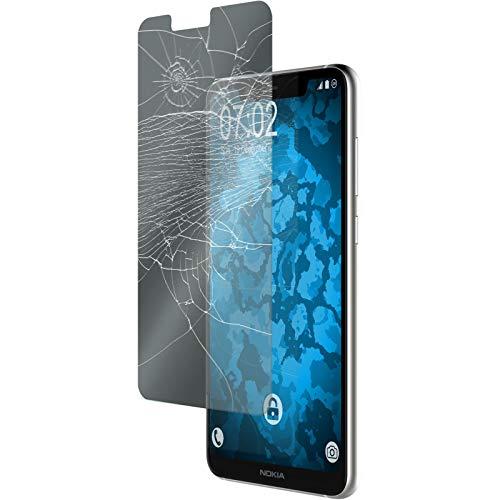 PhoneNatic 2 x Glas-Folie klar kompatibel mit Nokia 5.1 Plus - Panzerglas für Nokia 5.1 Plus