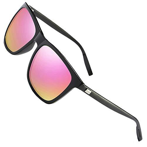 FEIDU Sonnenbrille Herren Polarisierte für Männer Sonnenbrillemänner der Frauen 100% UV400 Schutz für Golf, Fahren, Sport im Freien, Fischen.FD9003 (Rosa, 50)