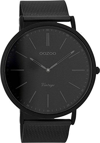 Oozoo Vintage Ultra Slim Metallband 44 MM Black/Schwarz/Schwarz C7384