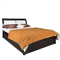 Royal Oak Grape King Size Bed with Hydraulic Storage (Black & White)