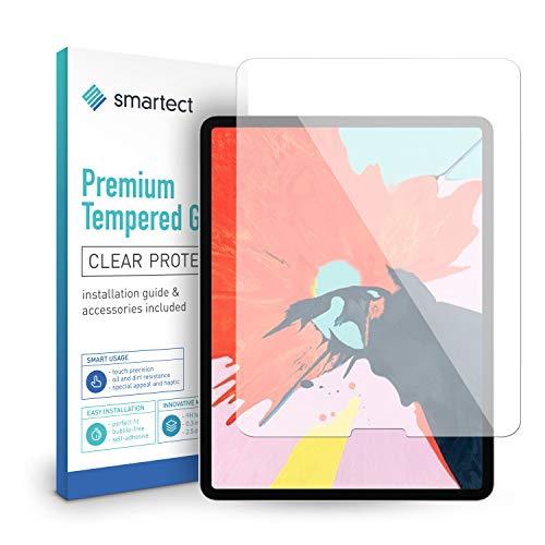 smartect Protector de Pantalla para Apple iPad Pro 2018 (12.9) - 9H Cristal Templado - Diseño Ultrafino - Instalación Sin Burbujas - Anti-Huellas