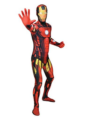 Nero Rosso Marvel Ironman Morphsuit Lizenzware