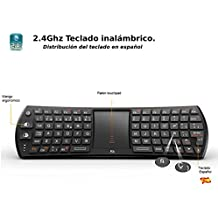 Rii Mini i24T (layout Español) Teclado inalámbrico con ratón touchpad para Smart TV, Mini PC Android, PlayStation, Xbox, HTPC, PC,Raspberry Pi A B B+ ,Kodi