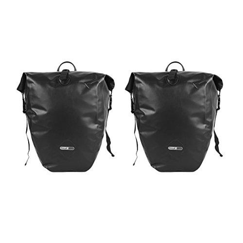 LKN Wasserfest 25L Fahrradtaschen Back-Roller Gepäckträgertaschen Anti-Riss Packtaschen Braun-2 pieces