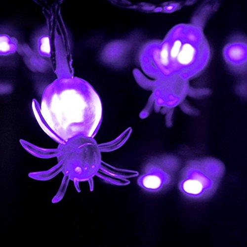 g Fairy Light 10 Spider LEDs Lampe für Halloween Xmas Festival Hochzeit Party Home Garten Dekor (Spider Dekor)