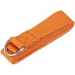 safeinu largo Yoga estiramiento correa cinturón para entrenamiento Fitness Naranja naranja