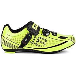 Spiuk 16 Road - Zapatillas unisex, color amarillo / negro, talla 48