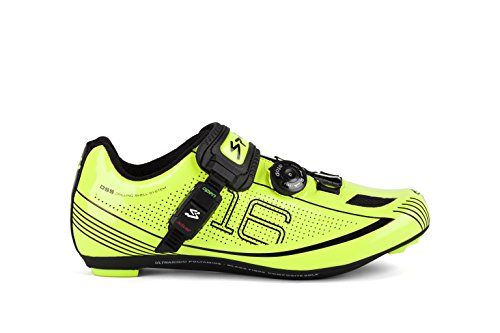 Spiuk 16 Road - Zapatillas unisex, color amarillo / negro, talla 38