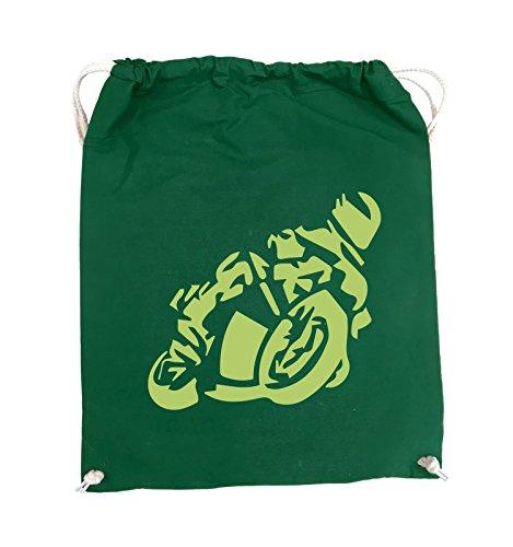 Borse Comiche - Motociclisti Grandi - Borsa Girevole - 37x46cm - Colore: Nero / Verde Argento / Verde