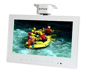 "Visua 10.2"" White Under Cabinet Digital Flip Down Kitchen / Caravan / Motorhome TV"