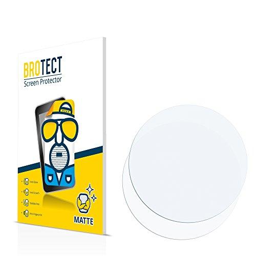 BROTECT Schutzfolie Matt für Armbanduhren (Kreisrund, Durchmesser: 55 mm) Displayschutzfolie [2er Pack] - Anti-Reflex Displayfolie, Anti-Fingerprint, Anti-Kratzer
