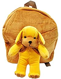 KIDZ ZONE'' Cute TEDDY Soft Toy For School Bag For Kids, Travelling Bag, Carry Bag, Picnic Bag, Teddy Bag (BROWN)