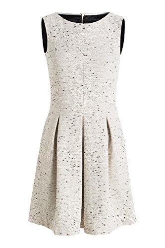 ESPRIT Collection Damen Kleid 026eo1e010-in Tweed-Optik Grau (ICE 055)