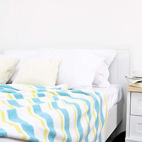 Homrak 3-farbige Chenille-Decke, weich, leicht und atmungsaktiv, bequem tragbar, geeignet für Innen- und Außenbereich, Geschenk für jeden Anlass, maschinenwaschbar, 152 x 203 cm (Doppelbett)