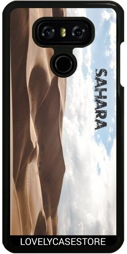 Hülle für LG G6 - Wüste Sahara Sky Blue Arid Dürre Düne Oase