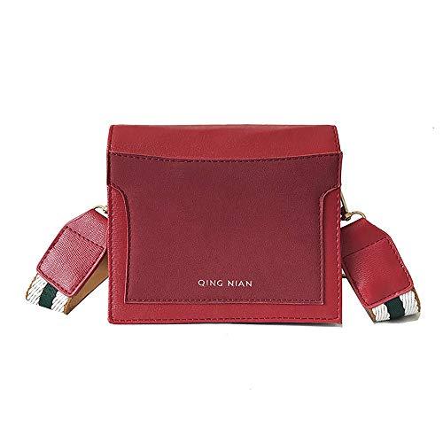 LIGEsayTOY UmhäNgetasche MäDchen Handtasche Rot Rucksack Schule Stella Mccartney Tasche Frauen UmhäNgetasche Breiter Schultergurt Einfache Messenger Bag Kleine Square Bag