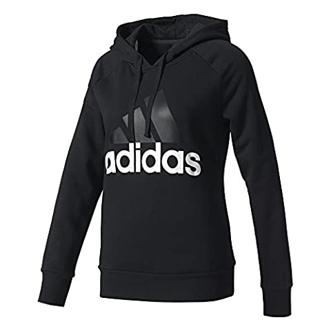 Adidas Women's Essential Linear Hoodie, Black, Small