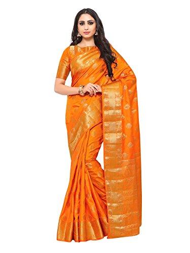 Mimosa By Kupinda Uppada Style Art Silk saree color: Orange ( 4180-323-SD-FANTA...