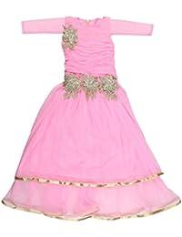 POPCORN Girls' A-Line Dress (Pink, 4-5 Years)