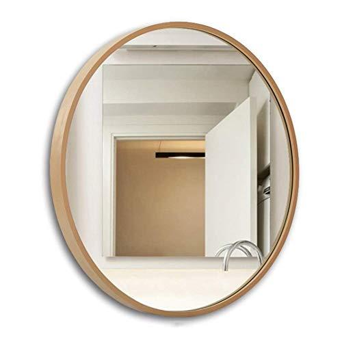 Mirror Spiegel, Bad Kosmetikspiegel, Schlafzimmer Wandspiegel, mit Rahmen, HD runder Spiegel 50cm