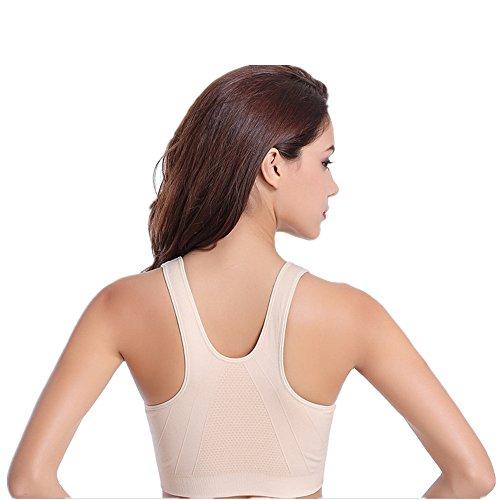 jysport Soutien-gorge de sport Femme Bustier Bra Réservoir Tops pour Yoga Entrainement de fitness colour
