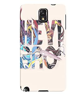Fuson Multicolor Text Back Case Cover for SAMSUNG GALAXY NOTE 3 - D3730