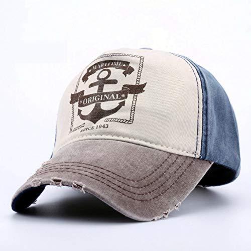 r Anker Gedruckt Retro Cap Maritime Original Caps Baumwolle Baseball-Hüte Mit ()