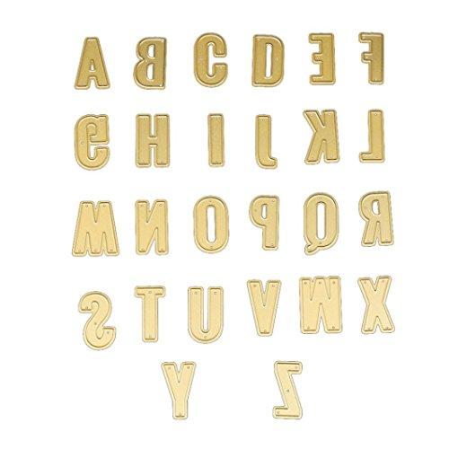 FNKDOR Stanzschablone Scrapbooking Embossing Machine Schablonen Schneiden Stanzformen, auf Sizzix big shot / Cuttlebug / und andere Stanzmaschine anwenden (Alphabet) (Papier-buchstaben-alphabet)