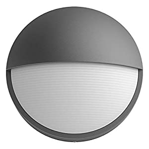 Philips myGarden Capricorn LED Outdoor Wall Light, 1 x 6 W Integrated LED Light, Black