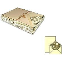 Botticino DIN C6 Rosso-rot 25 Stück Briefumschlag Marmorpapier