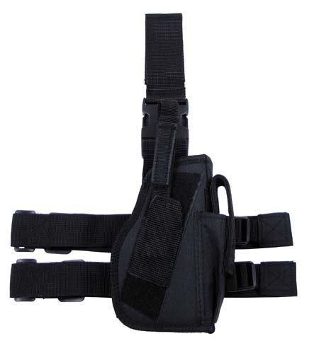 Pistolenbeinholster, schwarz, Bein- und Gürtelbefestigung, rechts