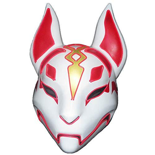 Rave Up Light Kostüm - Led Purge Fox Mask Kostüm Vollgesichts Glowing Rave Halloween Masken Für Erwachsene Light Up Cosplay Party,E