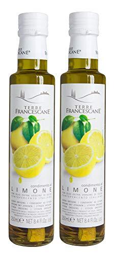 2er Pack Terre Francescane - Zitronen-Öl - Extra Natives Olivenöl mit Limonen (2 x 250 ml)