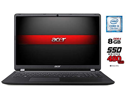 Acer Notebook PC CPU Intel Core i5 di 7 gen. fino 31 GHz SSD 480GB 8GB di RAM display 15.6 HD LED Bt WIFI HdmiDvd Cd+r r Win10 Pro Office Pro 2019