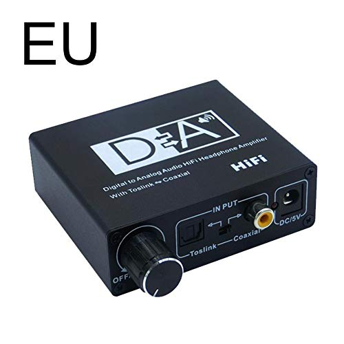 Yves25Tate Digital Analog Wandler DAC Konverter Digital Zu Analog Stereo Audio Konverter Koaxial Optischer Audio Adapter