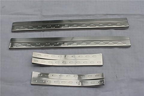 extérieur en acier inoxydable plaque de seuil de porte 4pcs