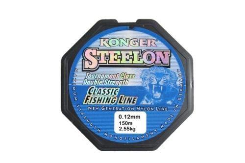 Konger Angelschnur Classic Fishing Line 0,12-0,50mm/150m Monofile (0,12mm / 150m)