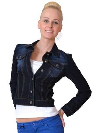Vs.Miss - Womens Fitted Denim Jacket - Indigo Dark Blue - UK 10